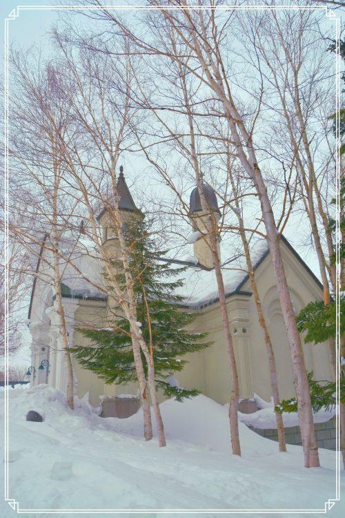 雪の美術館の外観