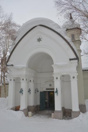 雪の美術館の入り口