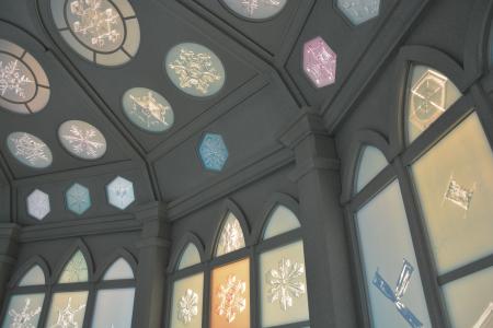 雪の美術館のクリスタルルーム