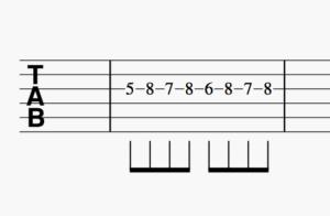 ギター小指トレーニングフレーズ